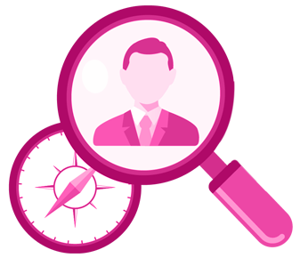 Image magnify person target middle home